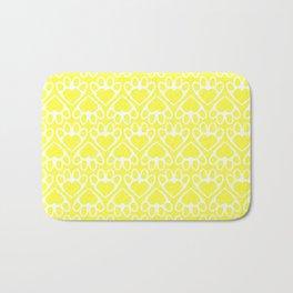Paw Prints on my Heart - in Yellow Bath Mat