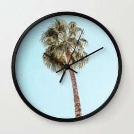 Single Palm Wall Clock