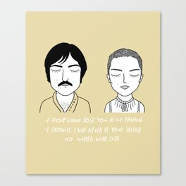 Jack and ex Canvas Print