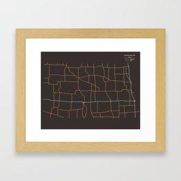 North Dakota Highways Framed Art Print