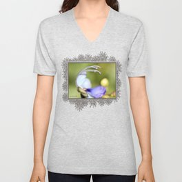Clerodendrum Ugandense or Blue Butterfly Bush Unisex V-Neck