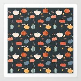 PumpkinPattern Art Print