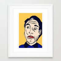 lichtenstein Framed Art Prints featuring Roy Lichtenstein  by Rachel Cecelski