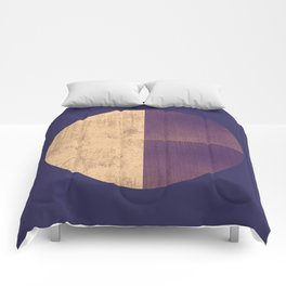 Black and Gold Circle 42 Comforters