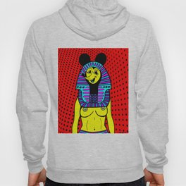 NEFER-TITTY.  (On Red). Hoody