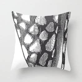Engraved Shell Throw Pillow
