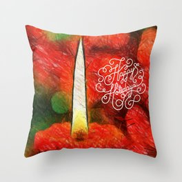 happy holdays Throw Pillow