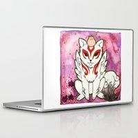 okami Laptop & iPad Skins featuring Amaterasu from Okami 02 by Jazmine Phillips
