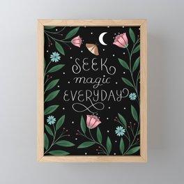 Seek Magic Everyday Framed Mini Art Print