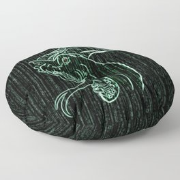 Wyrm in the Shell Floor Pillow