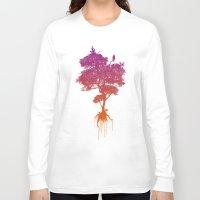 splatter Long Sleeve T-shirts featuring Splatter Tree by CoryFreemanDesign