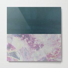 Bit of Brushstroke - Teal & Pink Metal Print