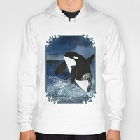 killer whale Hoodies featuring Killer Whale Orca by Aquamarine Studio