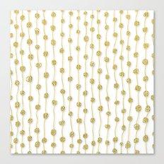Raining Gold Glitter Confetti - Luxury golden design on #Society6 Canvas Print