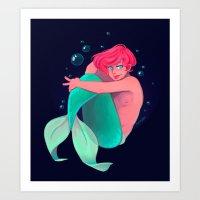 Ariel Merman Art Print