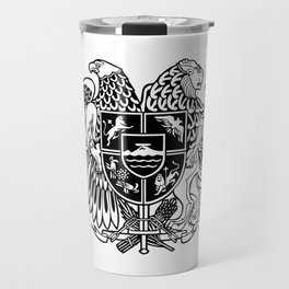 ARMENIAN COAT OF ARMS - Black Travel Mug