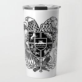 ARMENIAN COAT OF ARMS - Black Travel Mug