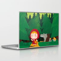 red hood Laptop & iPad Skins featuring Little Red Riding Hood by parisian samurai studio