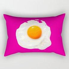 Sunny Side Up Egg on Hot Pink Rectangular Pillow