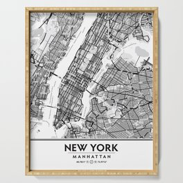 New York City Showing Manhattan, Brooklyn and New Jersey Serving Tray