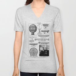 Airships / Air Balloons II Unisex V-Neck