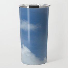 Blue Summer Sky // Cloud Photography Travel Mug