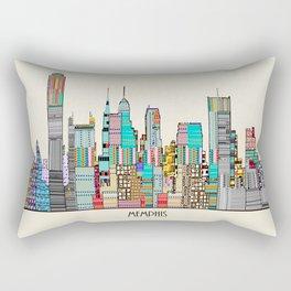 Memphis city Rectangular Pillow