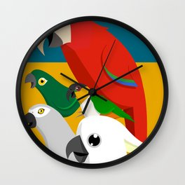 Loud Parrots Wall Clock