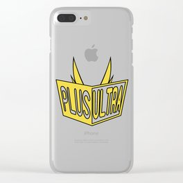 All Might Plus Ultra Clear iPhone Case