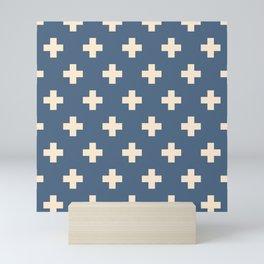 Swiss Cross Blue Mini Art Print