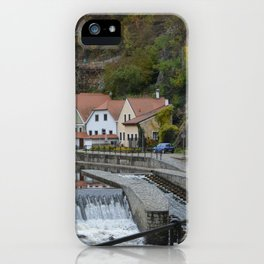 Colorful houses near a river iPhone Case