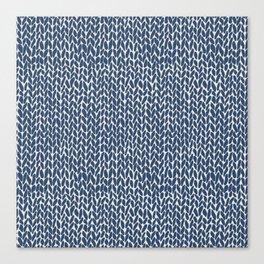 Hand Knit Navy Canvas Print