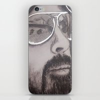 dave grohl iPhone & iPod Skins featuring Dave Grohl by Erin Michal