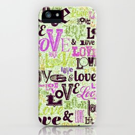 Vintage Love Words iPhone Case