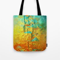 golden Tote Bags featuring Golden by SensualPatterns