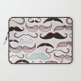 Pop Art Mustache Laptop Sleeve