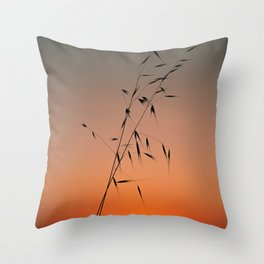 Two Grass Throw Pillow