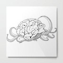 Brainoctopus Metal Print