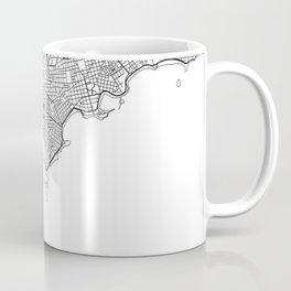 Montevideo City Map Uruguay White and Black Coffee Mug