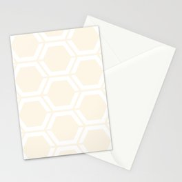 Old lace - pink - Geometric Polygon Pattern Stationery Cards