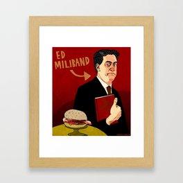 Ed Miliband Framed Art Print