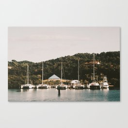 Boats of Roatan Canvas Print