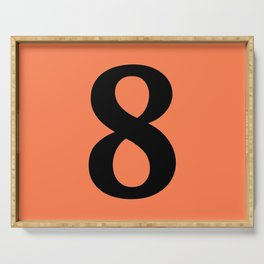 8 (BLACK & CORAL NUMBERS) Serving Tray