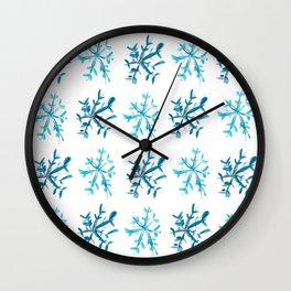 Simply Snowflakes Wall Clock