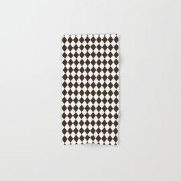 Cocoa Brown Modern Diamond Pattern Hand & Bath Towel