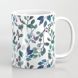 Jade and Succulent Watercolor Plant Pattern Coffee Mug