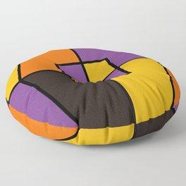 Color Block Halloween_Black Lines Floor Pillow