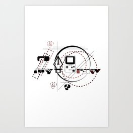 Pen Game Art Print