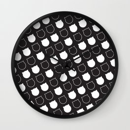 Polka Cat - Reverse Wall Clock