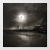 the moon Canvas Prints featuring Moon by Viviana Gonzalez